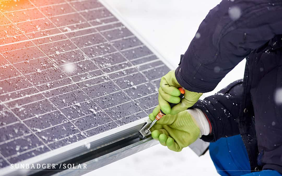Fake News: Solar Panels Can't Be Installed in Winter