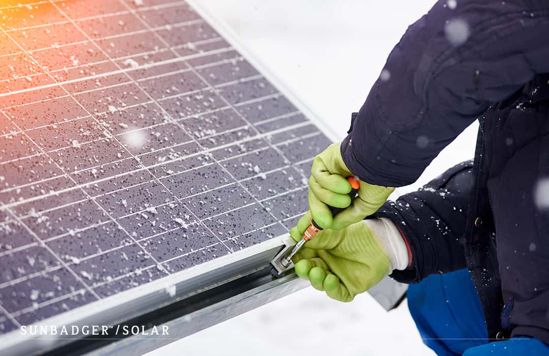 Fake News Solar Panels Can T Be Installed In Winter