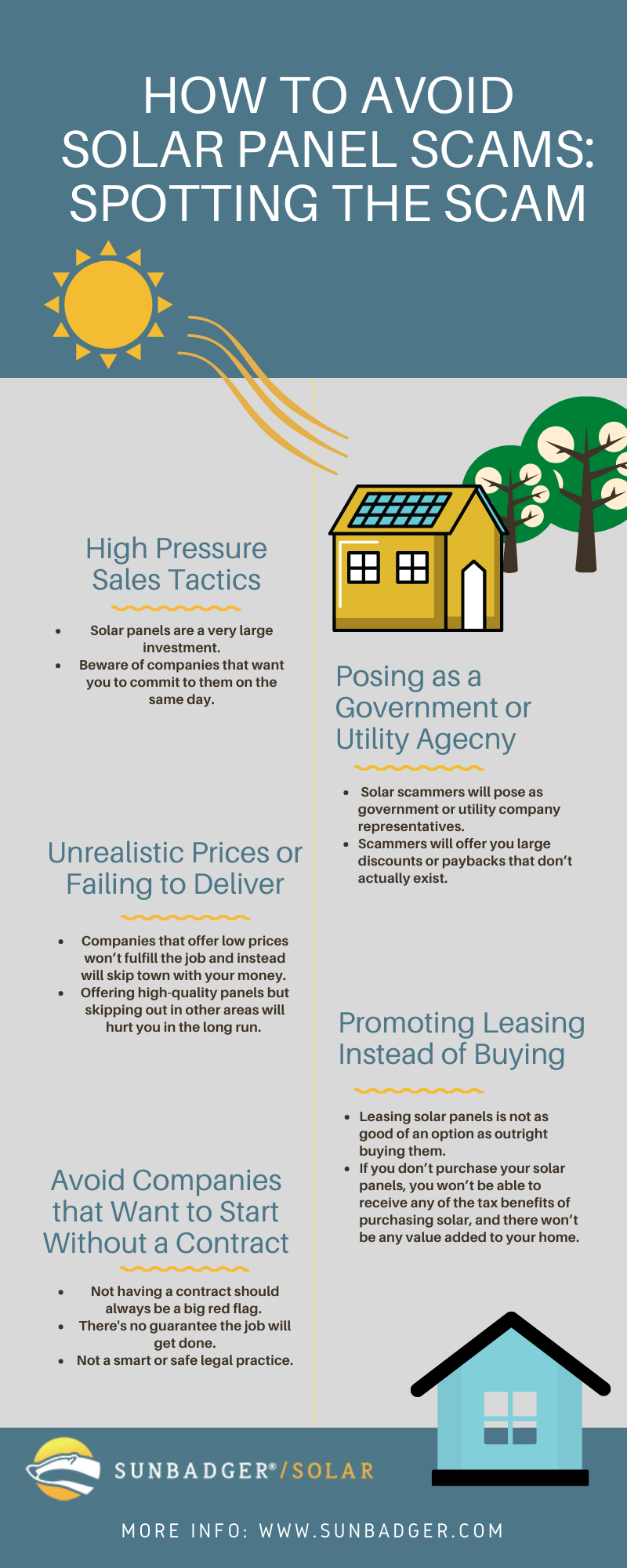 solar panel scams infographic